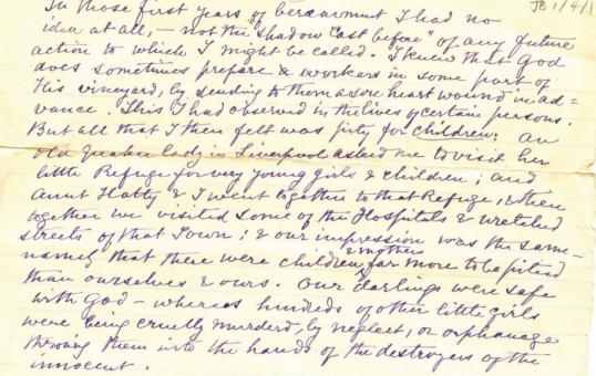 Butler letter 1866